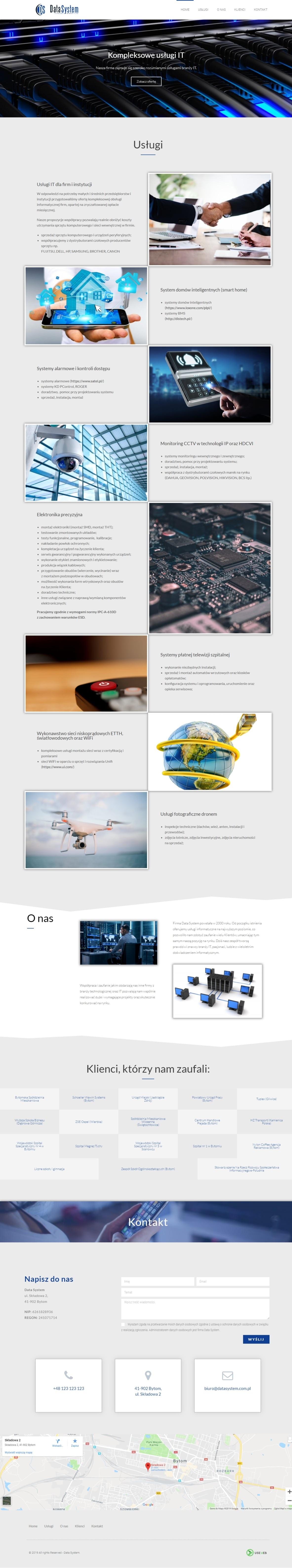 strona internetowa datasystem
