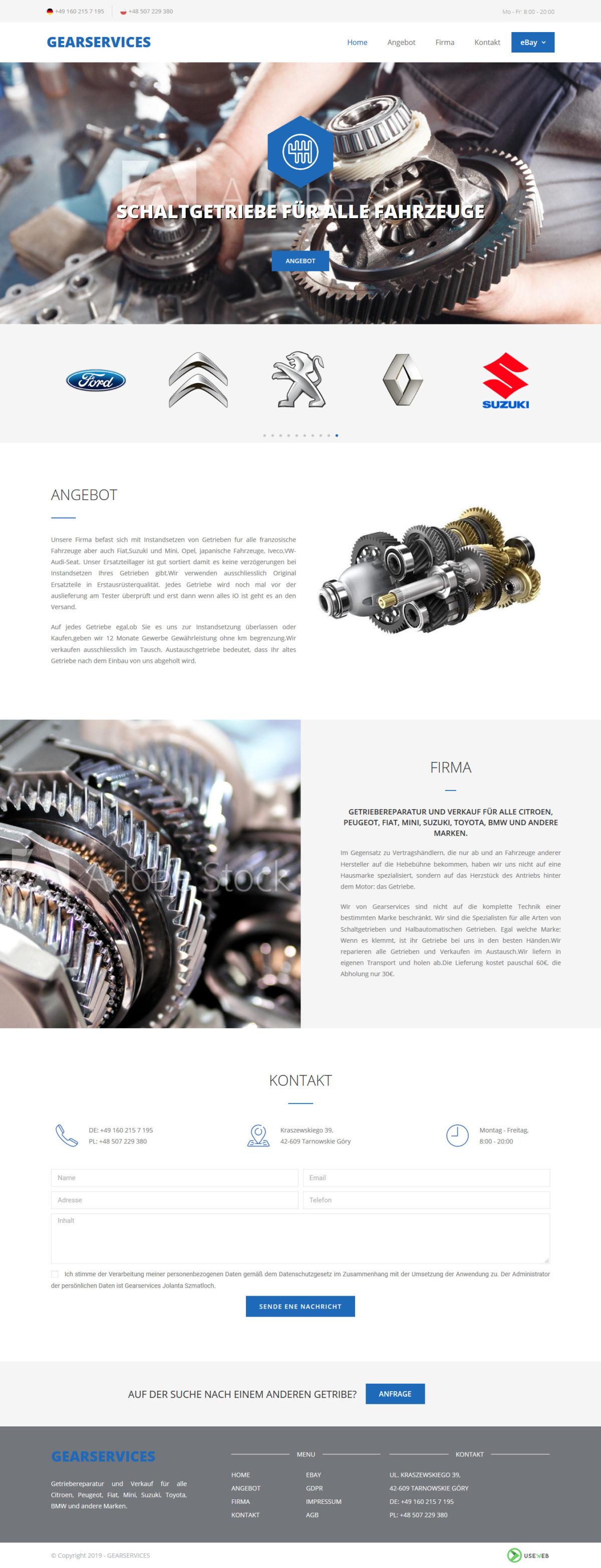 strona www gearservices