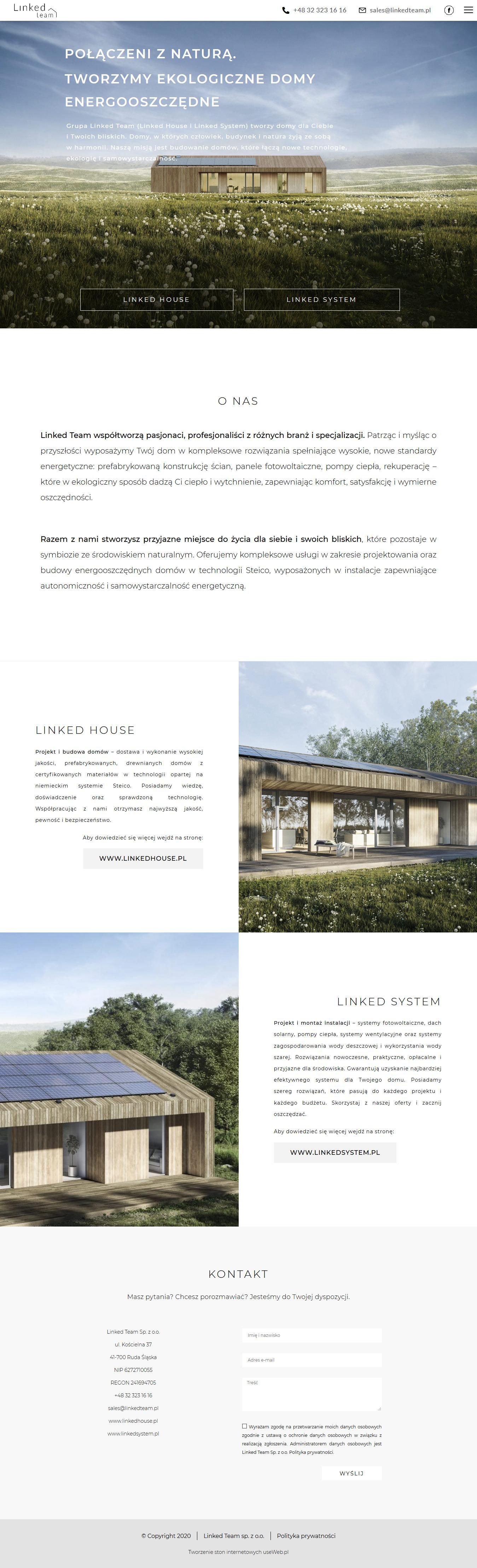 tworzenie stron www - useweb - portfolio - projekt - linkedTeam