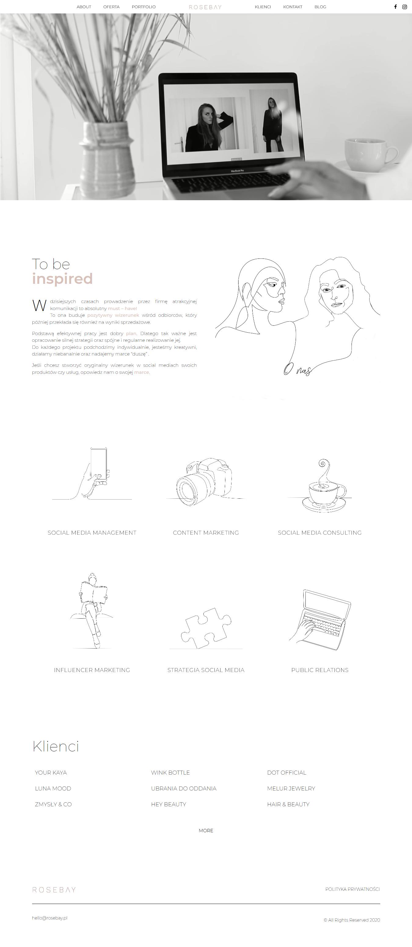 Tworzenie stron internetowych rosebay
