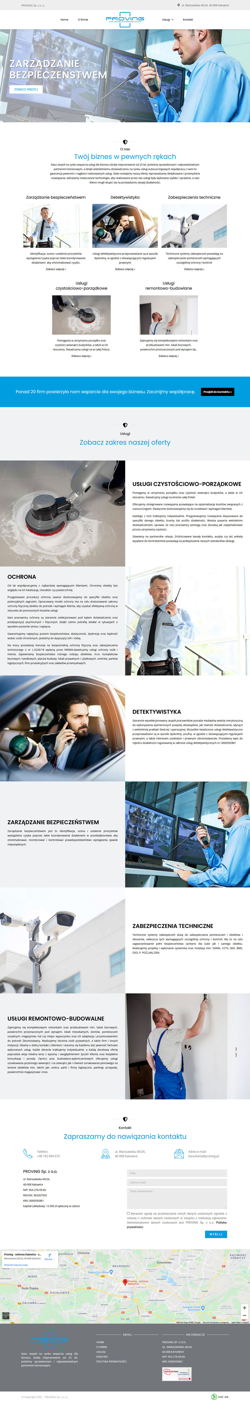 Tworzenie stron internetowych portfolio firmy useweb - proving.pl