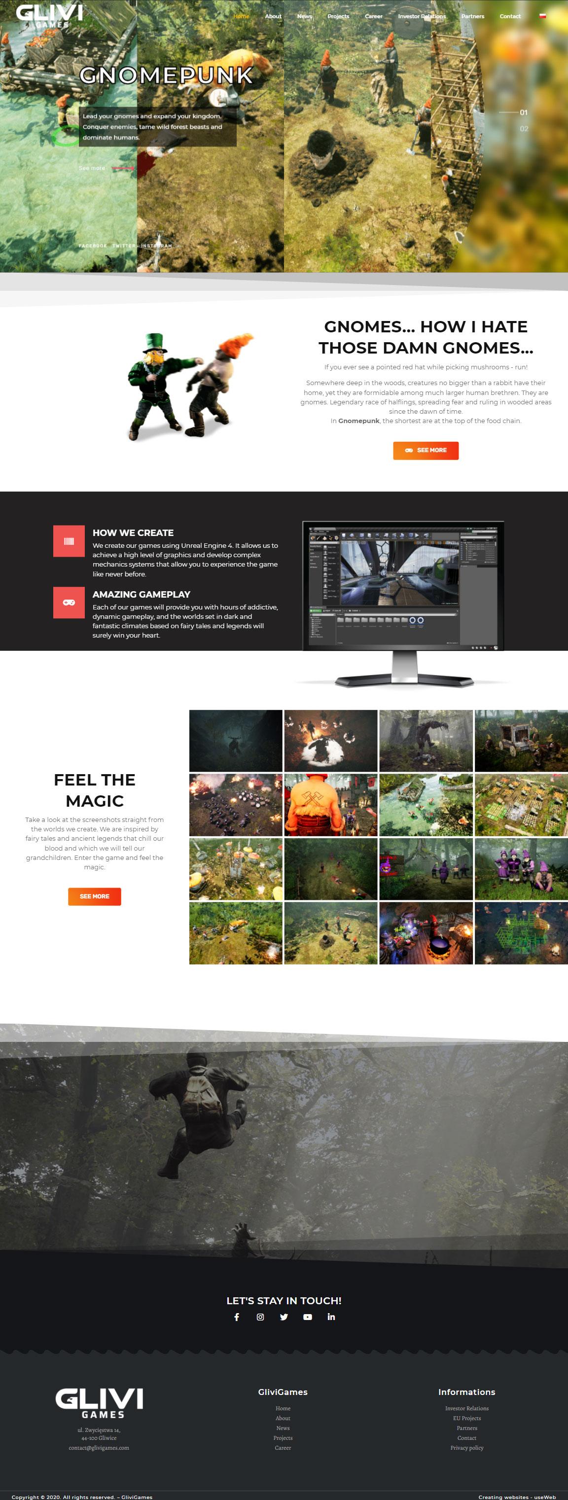Portfolio-useweb-tworzenie-stron-internetowych-glivigames-