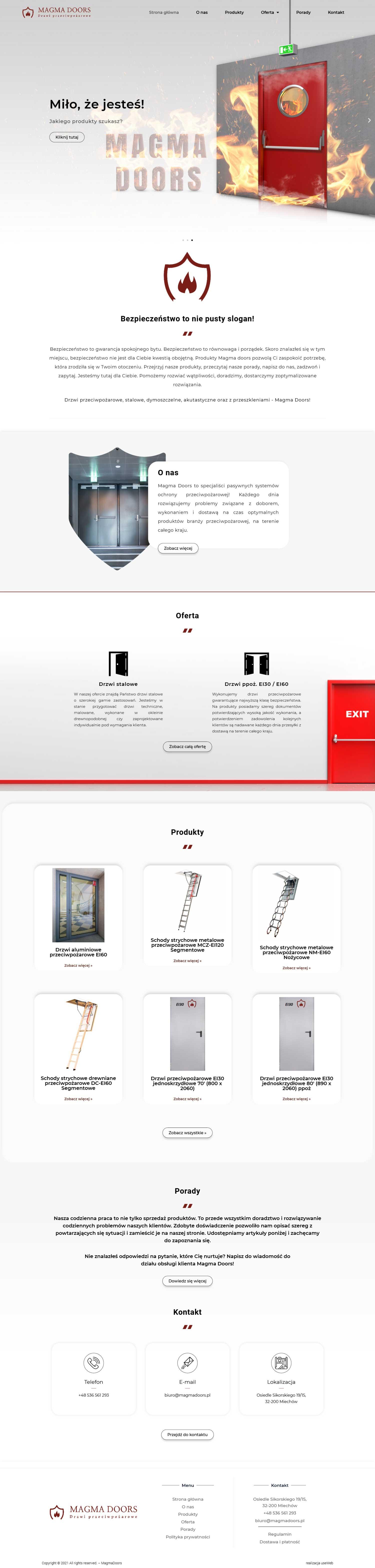 Magma-Doors-Strona-Internetowa-Portfolio-UseWeb